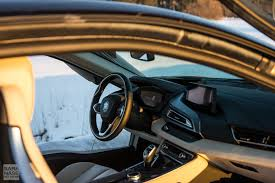Bmw I8 Interior - first drive bmw i8 on a winter day