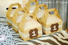 Birthday Favor Boxes by Safari Birthday