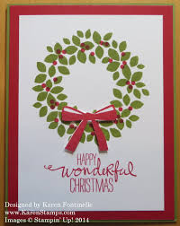 wondrous wreath easy card sting with