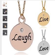 ladies live laugh love necklace