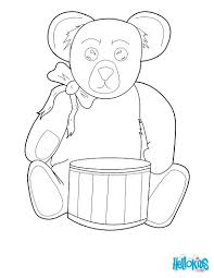 coloring pages teddy bears hearts christmas bear free