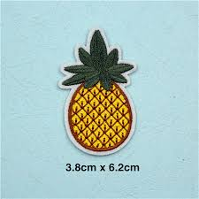 lunchtime indulgence balbir style picture pf stripe fruit patch pineapple embroidery patch for clothing