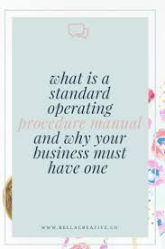 best 25 standard operating procedure ideas on pinterest small