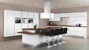 fantastic modern kitchen design interiors with white wood kitchen in