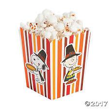 peanuts thanksgiving popcorn boxes trading