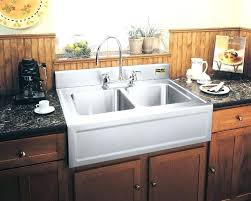 ikea farmhouse sink single bowl ikea farm sink white kitchen remodel with patterned tile and butcher