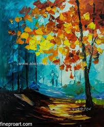 lovely date modern art vibrant rich texture oil painting on canvas size free hand painted