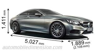 dimensions of mercedes cars showing length width and height