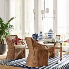 Glass Table Kitchen by Mercer Dining Table With Glass Top Williams Sonoma