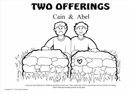 cain and abel sacrifice to god coloring page within and coloring