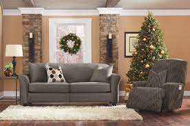 Gray And Tan Living Room by Decorating Wonderful Sofa With Gray Surefit Cover Plus White Rug