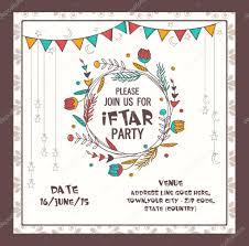 Eid Invitation Card Ramadan Kareem Iftar Party Celebration Invitation Card U2014 Stock