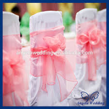 cheap chair sashes sh017a wholesale fancy cheap wedding organza tie bow coral chair
