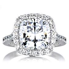 cubic zirconia halo engagement rings sheera s cushion cut cz halo engagement ring 10mm