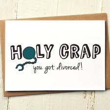 congratulations on your divorce card illustrated cards collection finch and the fallow