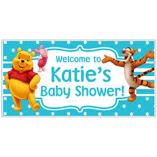 winnie the pooh party decorations ebay winnie the pooh piglet tiger baby shower banner custom personalized party bac