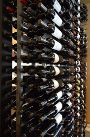 contemporary style commercial wine cellar installation in san