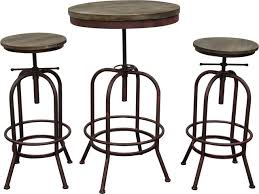 Vintage Bistro Table And Chairs Fairfax Bistro Table Set Weathered Brown Top Rust Black Iron
