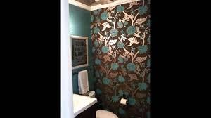 wallpaper decor ideas for powder room youtube
