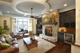 Family Room Design With Brown Leather Sofa Interior Remarkable Family Room Furniture For Family Room Ideas