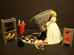 mechanic wedding cake topper auto mechanic got the tire with stand and sign wedding cake topper