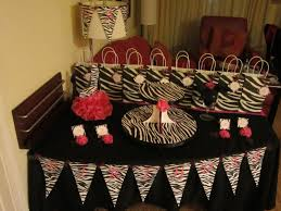 diy party decorations sweet ideas diva pink zebra table decor