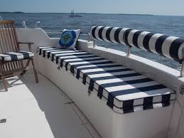 Striped Cushions Online Diy Cockpit Cushions U0026 Rail Covers In A Truly Nautical Striped