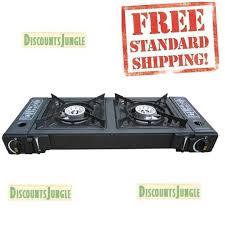 Two Burner Gas Cooktop Propane Hercules Gas Stove 2 Burner Portable Cooking Outdoor Propane