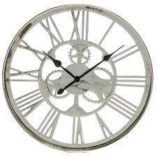 gorgeous silver wall clock 57 large silver wall clocks uk glass