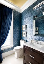 transitional bathroom design ideas best dezign transitional bathroom with blue timeless wallpaper style