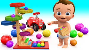 video for kids youtube kidsfuntv learn colors for children with baby fun play wooden toy rolling