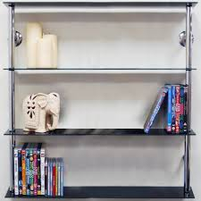 Wall Dvd Shelf Maxwell Wall Mounted Wide Glass 195 Cd 140 Dvd Storage Shelves