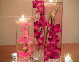 Vases With Flowers And Floating Candles Submersible Flowers Etsy