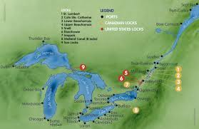 st seaway map st seaway ontario canada cruise ship schedule