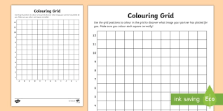 blank grid worksheet blank colouring grid activity sheet colouring grid references