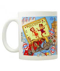 chumbak mumbai yellow and red coffee mug buy online at best price