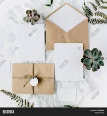 Craft Invitation Card Flat Lay Workspace Wedding Image U0026 Photo Bigstock