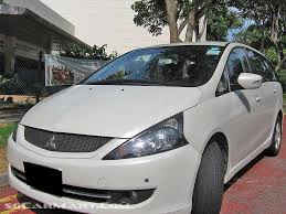 mitsubishi white mitsubishi grandis review and photos