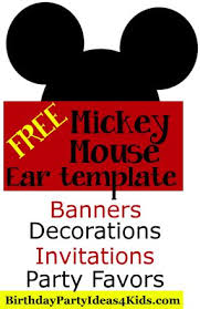 free mickey mouse ears template mickey minnie