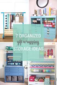 gift wrapping storage organized gift wrapping storage ideas png