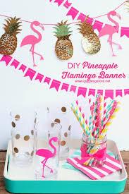 pineapple flamingo banner