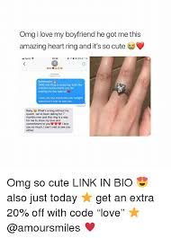 Cute Memes For Boyfriend - omg i love my boyfriend he got me this amazing heart ring and it s
