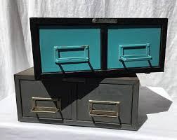 Teal File Cabinet Vintage File Cabinet Etsy