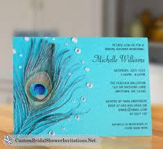 custom bridal shower invitations peacock bridal shower invitations custom bridal shower invitations