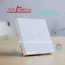 wireless wall light switch broadlink wireless eu type tc2 2 gang 1 way smart wall switches wifi