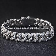 men jewelry bracelet images China hip hop cz bracelet cuban chain bracelets for men from jpg