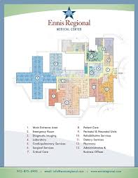 floor plan of hospital hospital floorplan ennis regional medical center