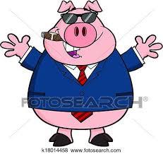 clipart uomo clip uomo affari maiale con occhiali da sole k18014458