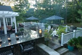 design ideas gorgeous deck design ideas with stone walls and