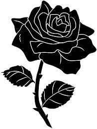 Black Rose Flower Black Rose Silhouette Clip Art Free Clip Art